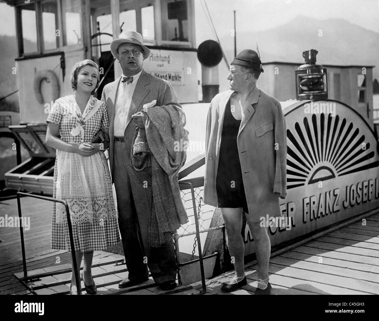 Renate Mueller, Emil Jannings and Max Guelstorff in the movie 'Darling of the gods', 1930 - Stock Image