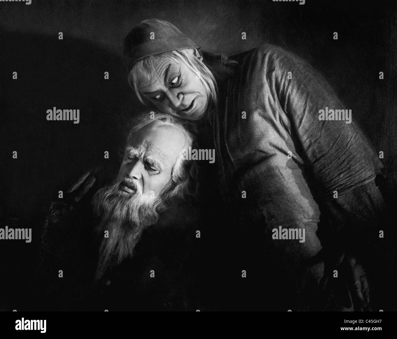 Goesta Ekman and Emil Jannings in the movie 'Faust', 1926 - Stock Image