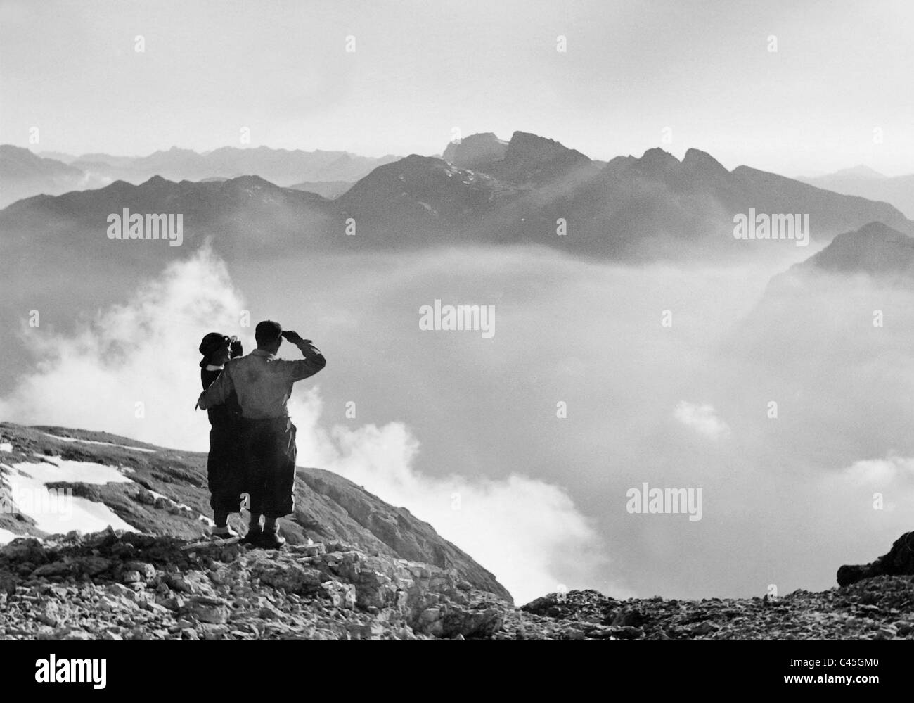 Mountain valley in the evening light, 1938 - Stock Image