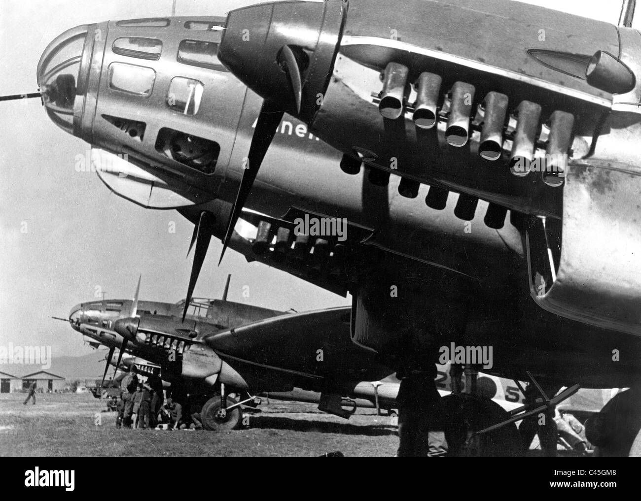 Bombers of the Condor Legion during the Spanish Civil War, 1939 - Stock Image
