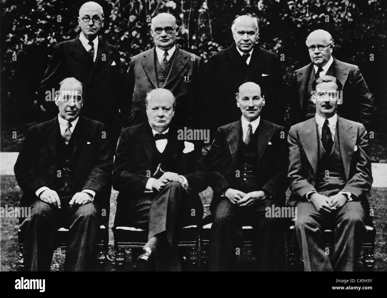 Winston Churchill and his Cabinet, 1941 - Stock Image