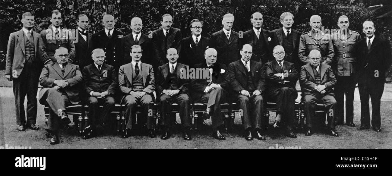 The British War Cabinet, 1941 - Stock Image