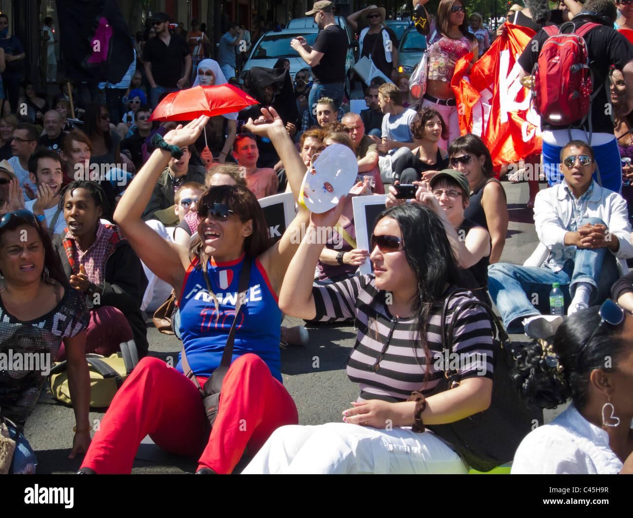 Paris, France, Crowd of Migrant Prostitutes