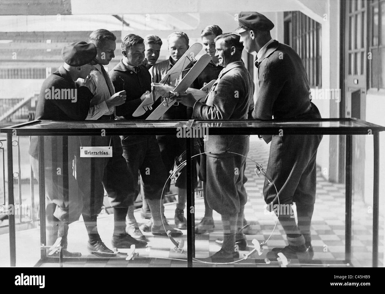 Instruction in aerobatic flying at the Flying School Munich - Schleissheim , 1931 - Stock Image