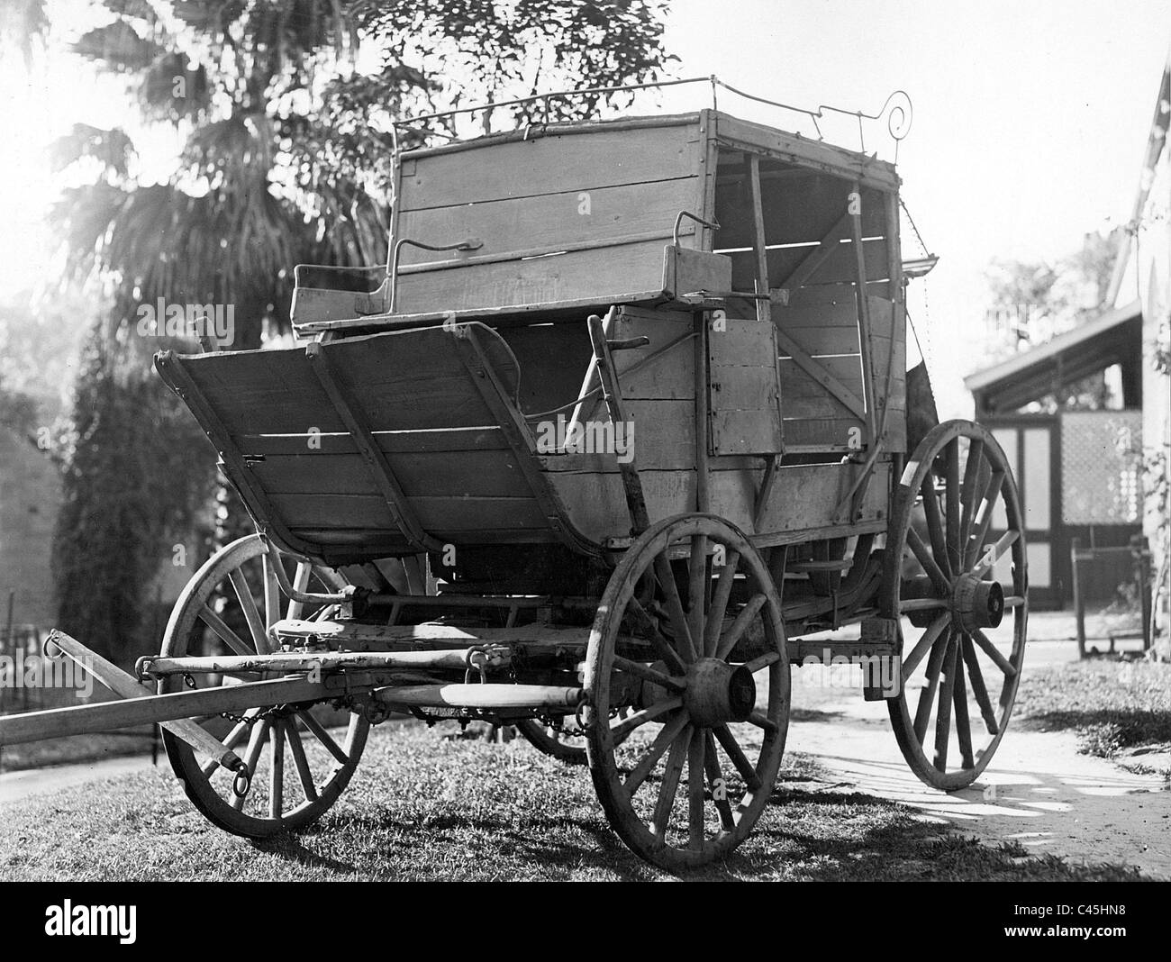 Australian mail coach, 19th century - Stock Image