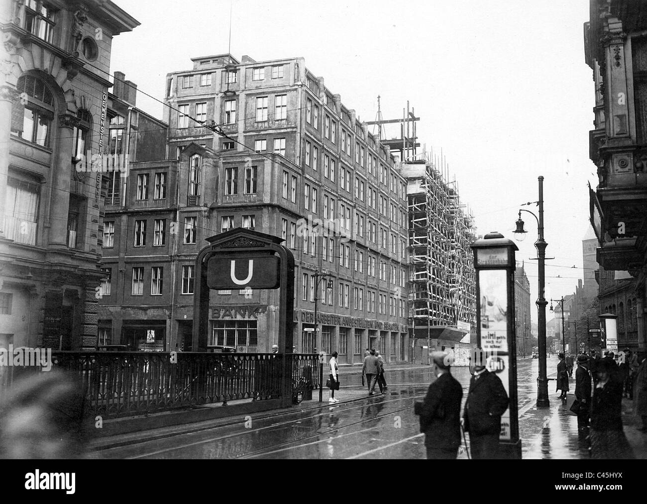 House of Free Trade Unions in Berlin, 1931 - Stock Image