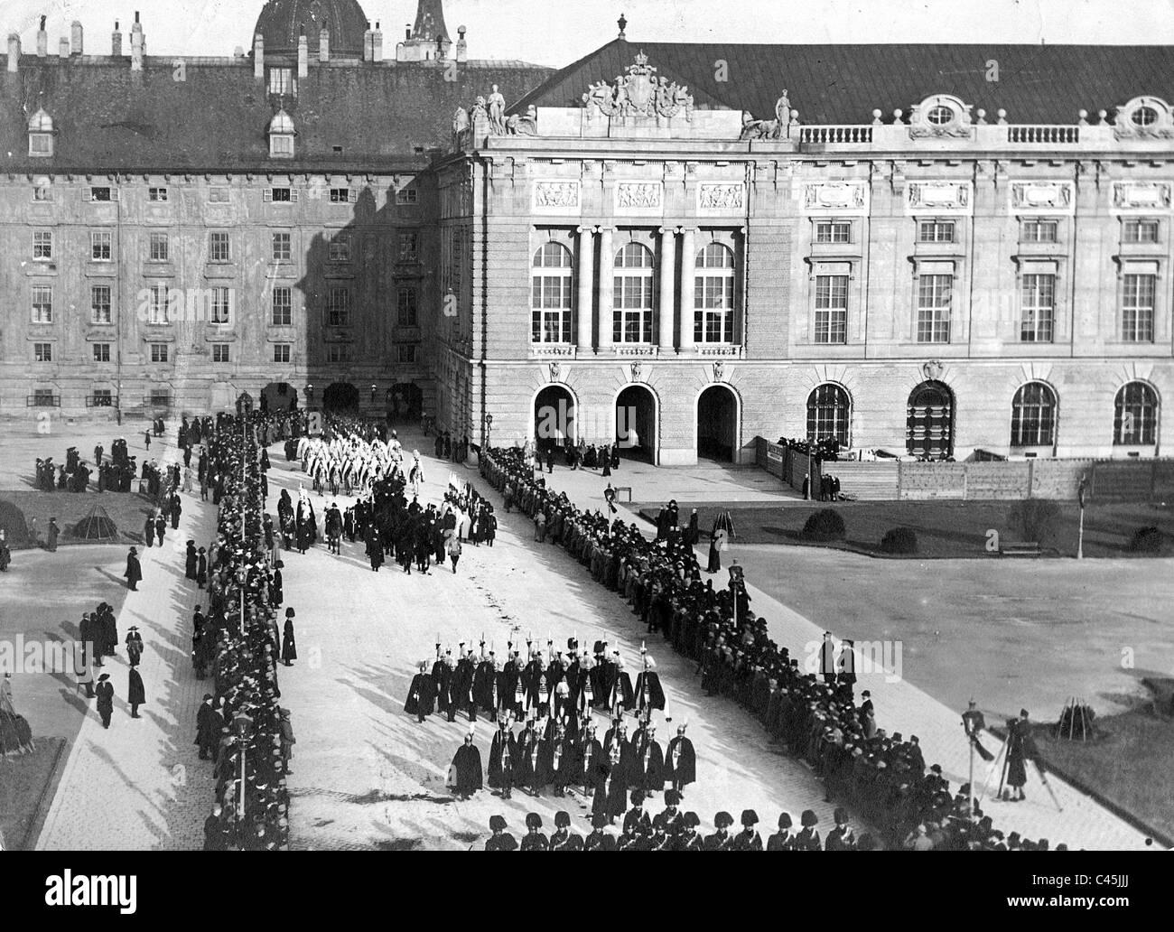 Vienna Hofburg, 1917 Stock Photo
