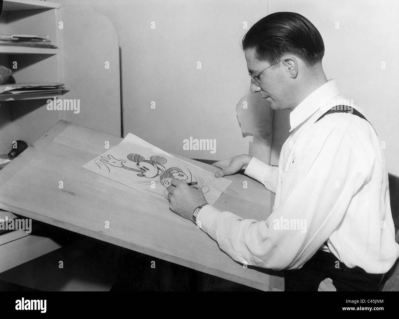Floyd Gottfredson, 1933 - Stock Image