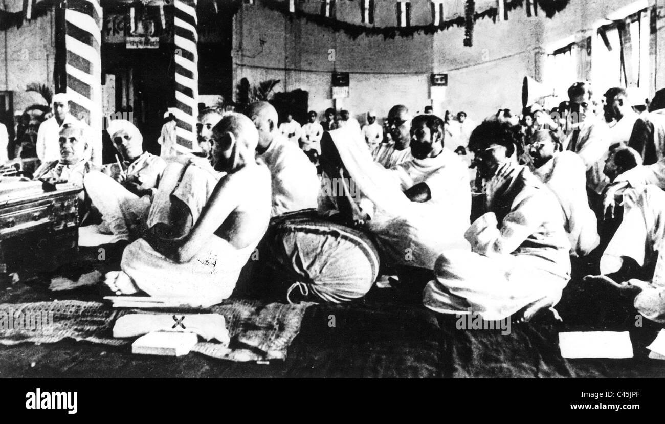 Mahatma Gandhi and Jawaharlal Nehru, 1942 - Stock Image