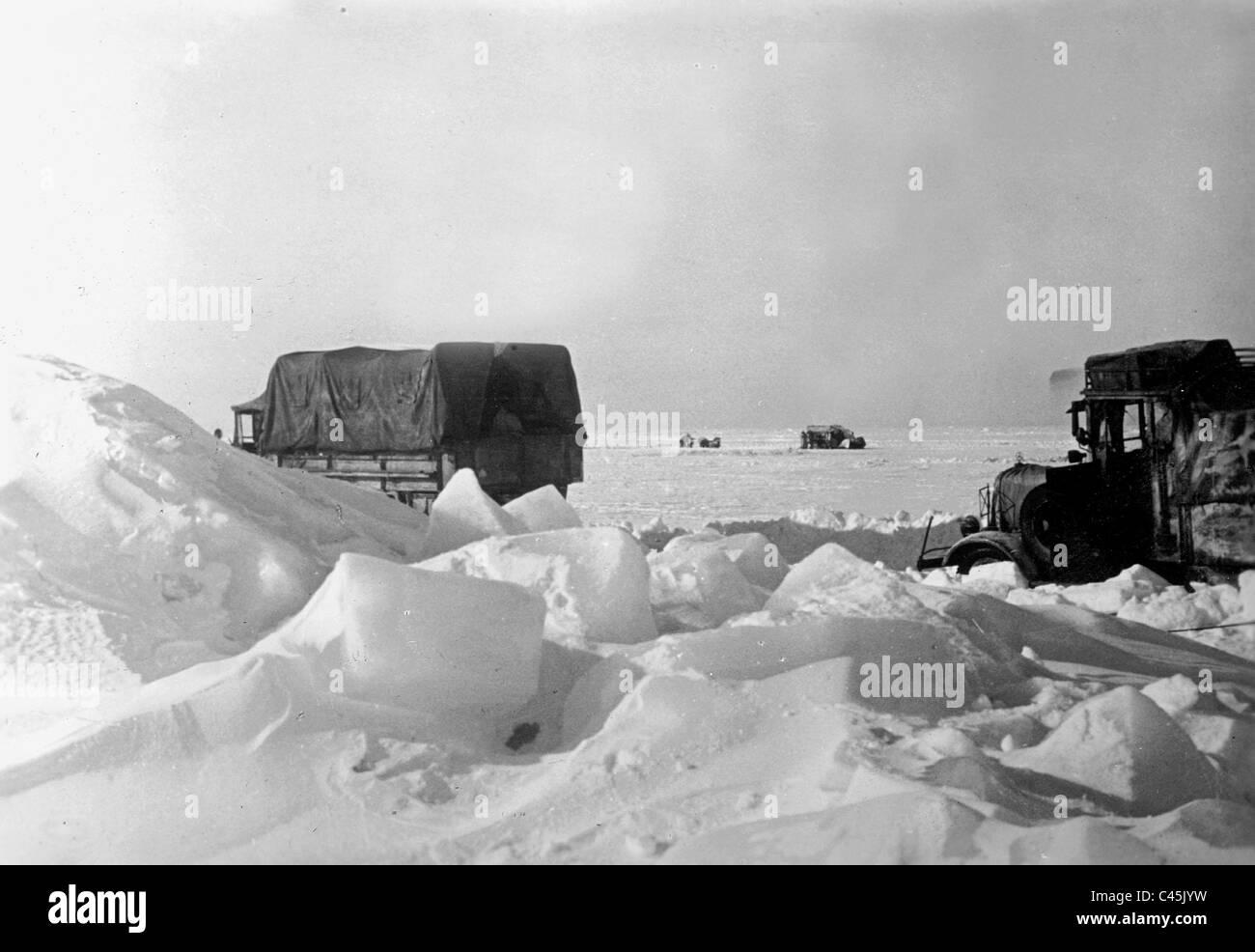 German military transport on the way to the Finnish island of Tytarsaari, 1942 - Stock Image