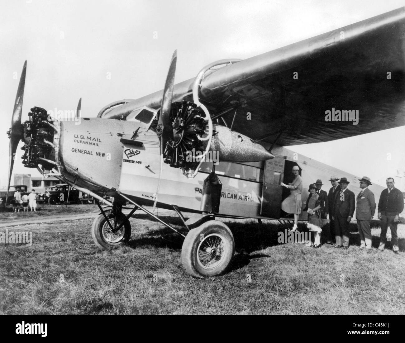 Focker F-VII/3m belonging to the American airline PanAm, 1928 - Stock Image