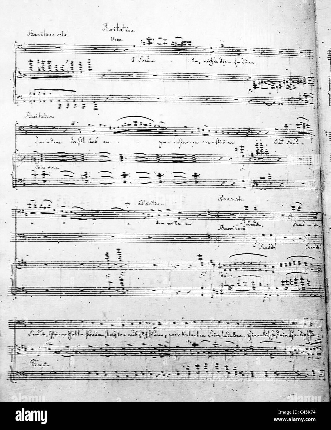 Copy of a score form the 9th Symphony by Ludwig van Beethoven - Stock Image