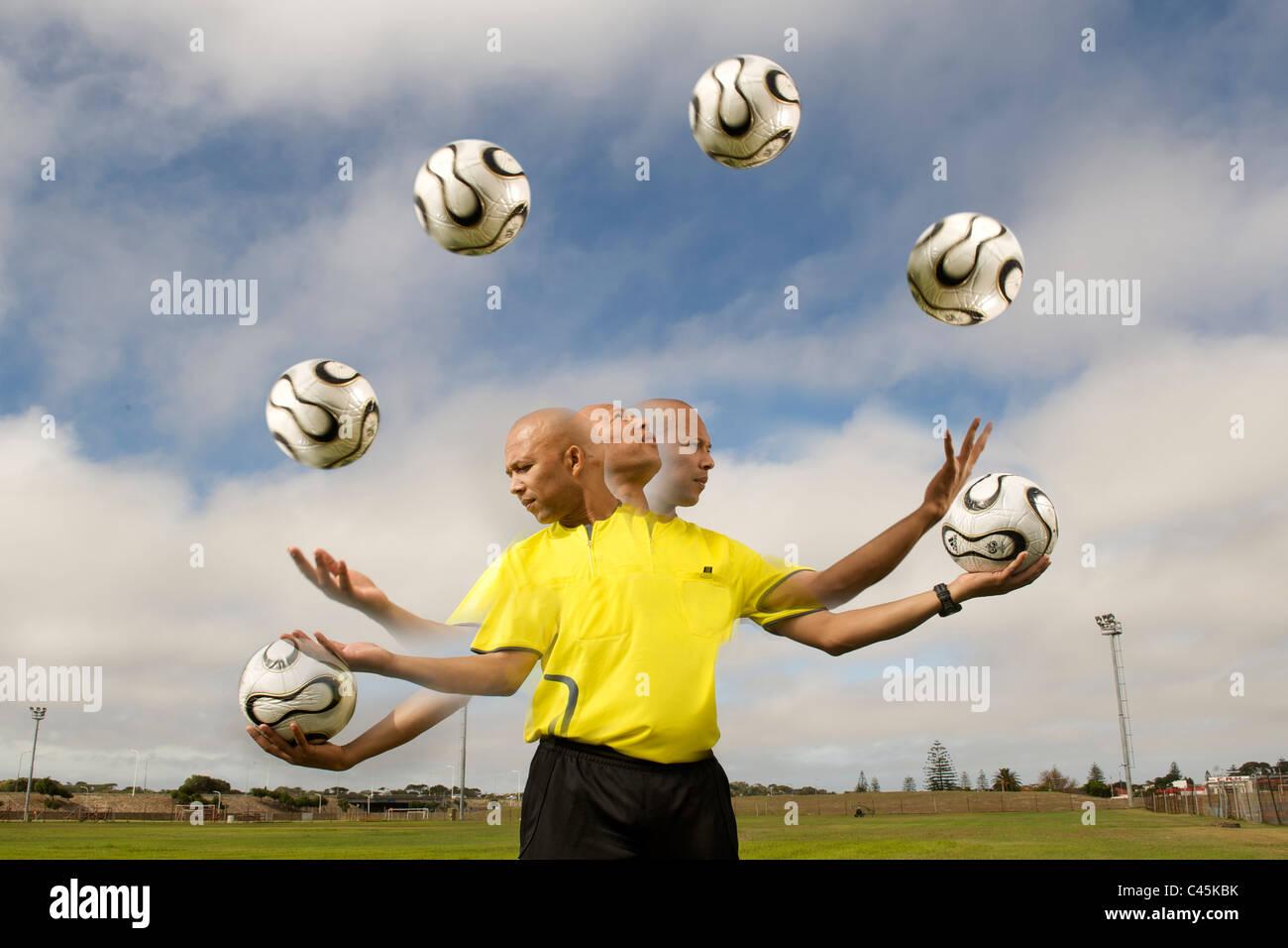 Jerome Damon, FIFA 2010 referee, Cape Town, April 2010. - Stock Image