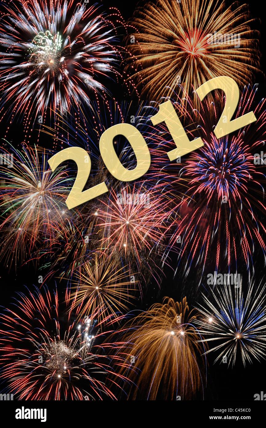 Happy new year 2012 - Stock Image