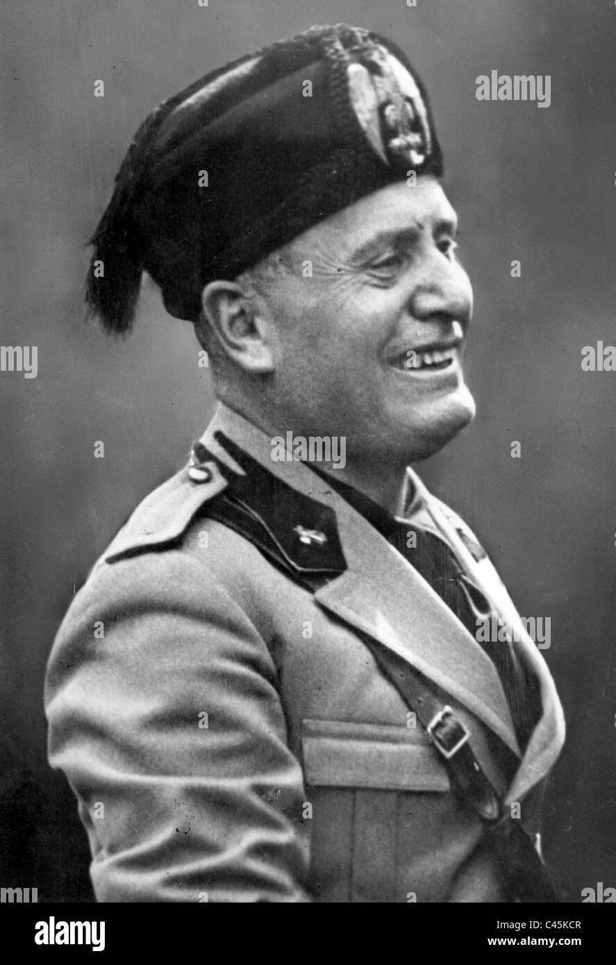 Benito Mussolini sorriso