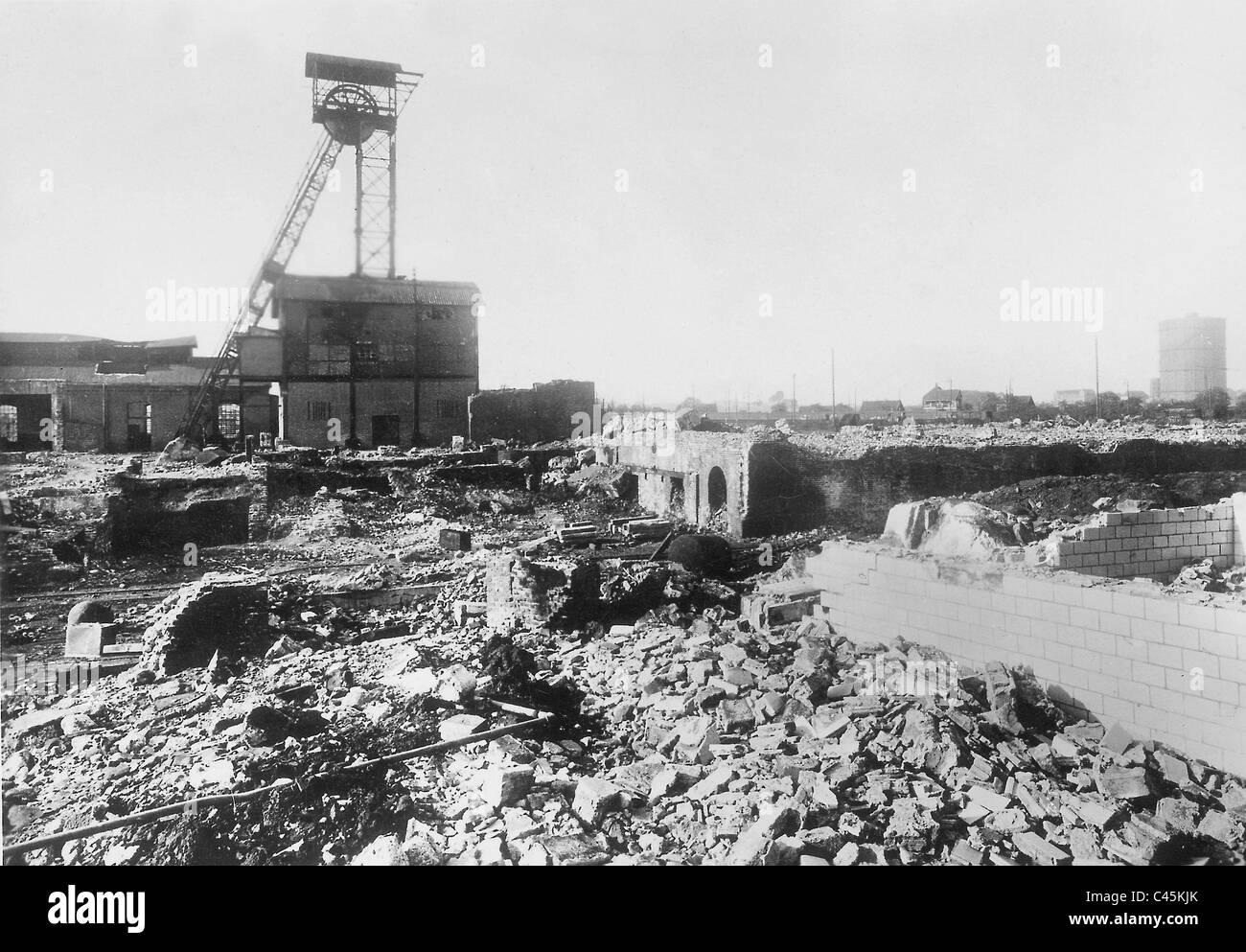 Coal mine, historical - Vollmond mine - Stock Image