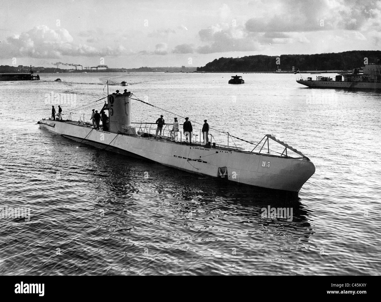 U-5, submarine type II, 1935 Stock Photo - Alamy