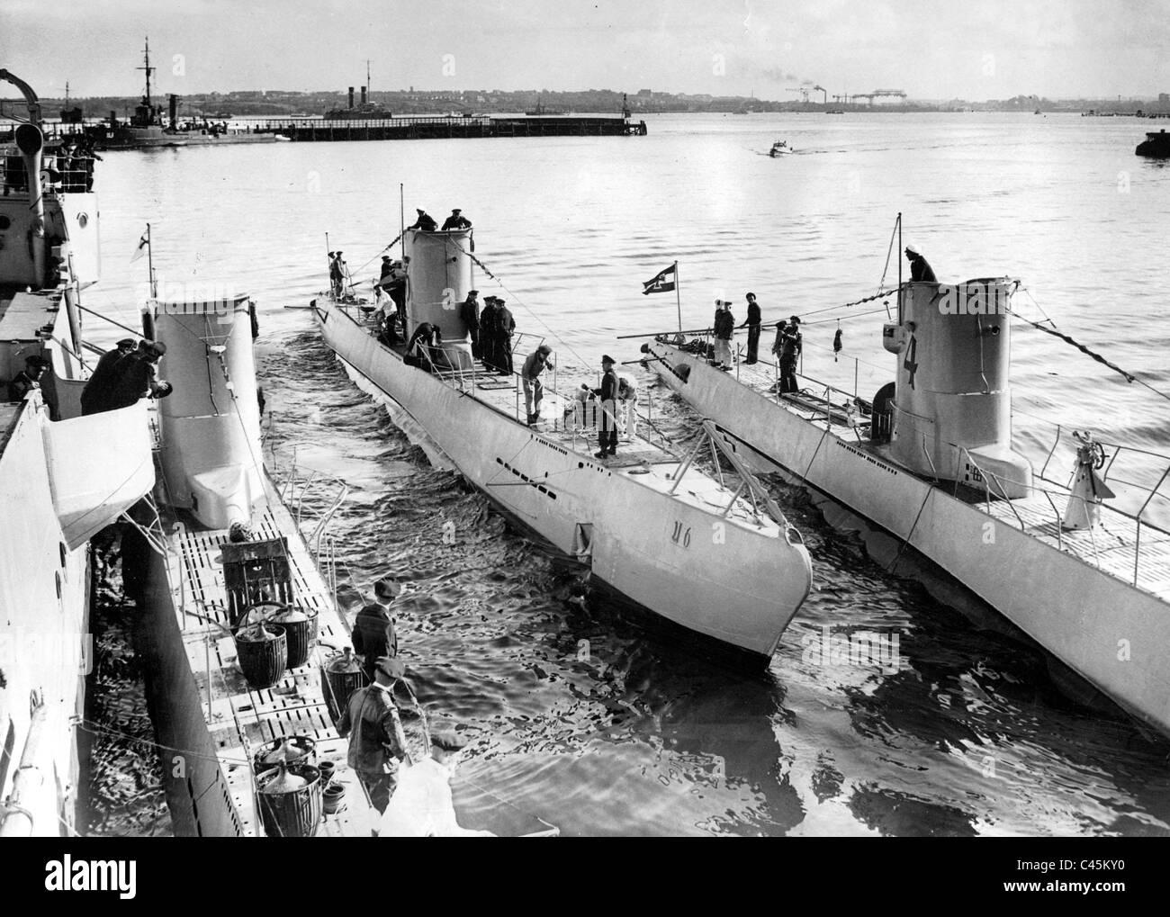 Type II submarines, 1935 Stock Photo - Alamy