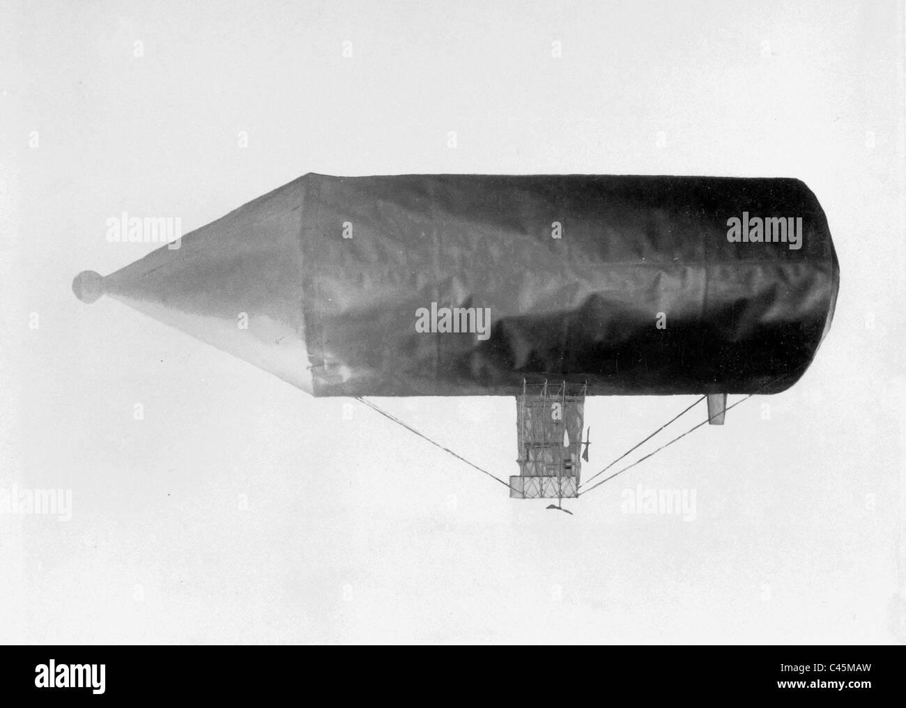 Model of an airship by David Schwarz, 1895 - Stock Image