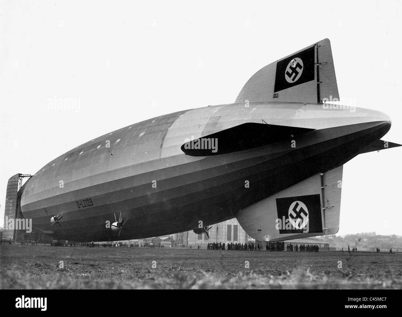 The first flight of the Zeppelin airship 'Hindenburg' (LZ 129), 1936