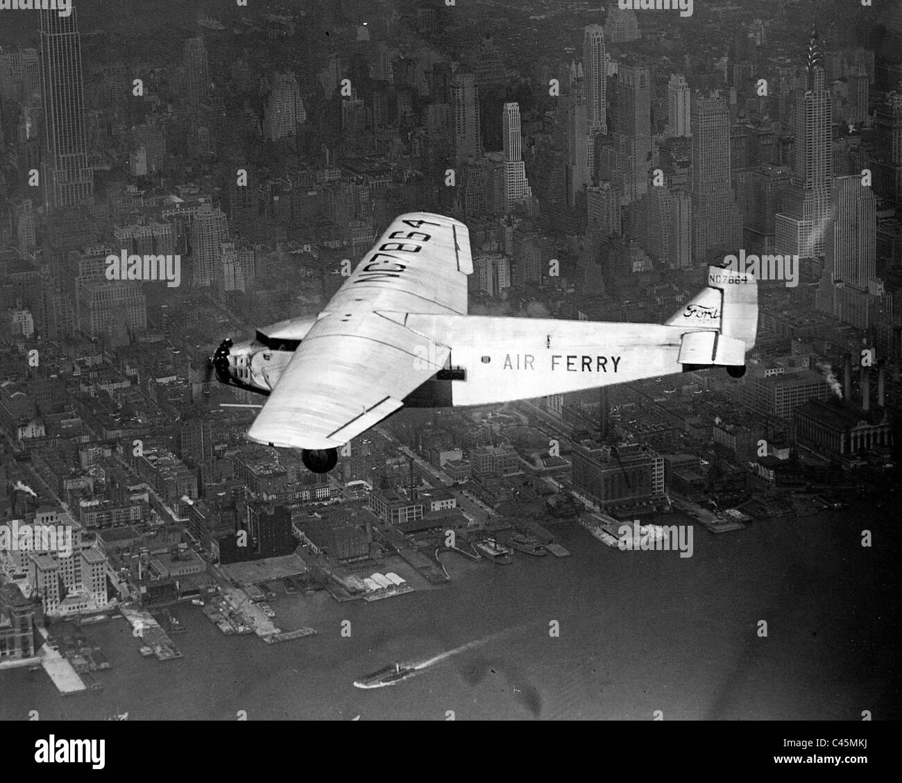 New York's first 'air ferry' - Stock Image