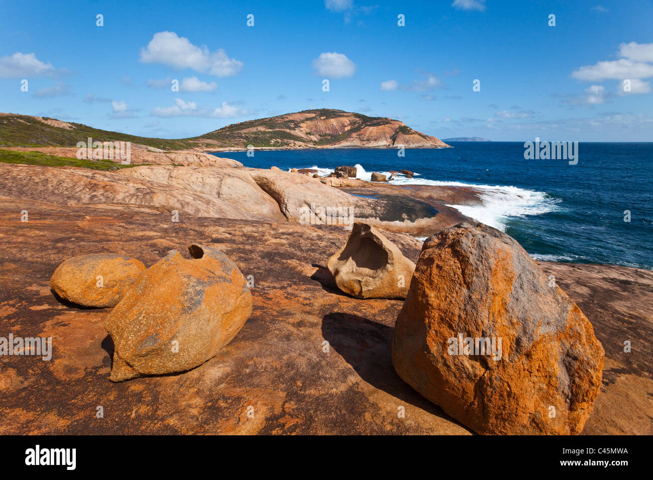 Rocky outcrops at Thistle Cove. Cape Le Grand National Park, Esperance, Western Australia, Australia - Stock Image