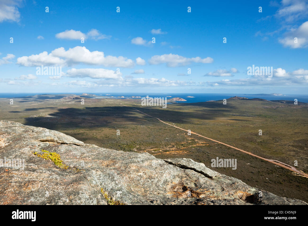 View of Cape Le Grand National Park from Frenchman Peak. Cape Le Grand National Park, Esperance, Western Australia, - Stock Image