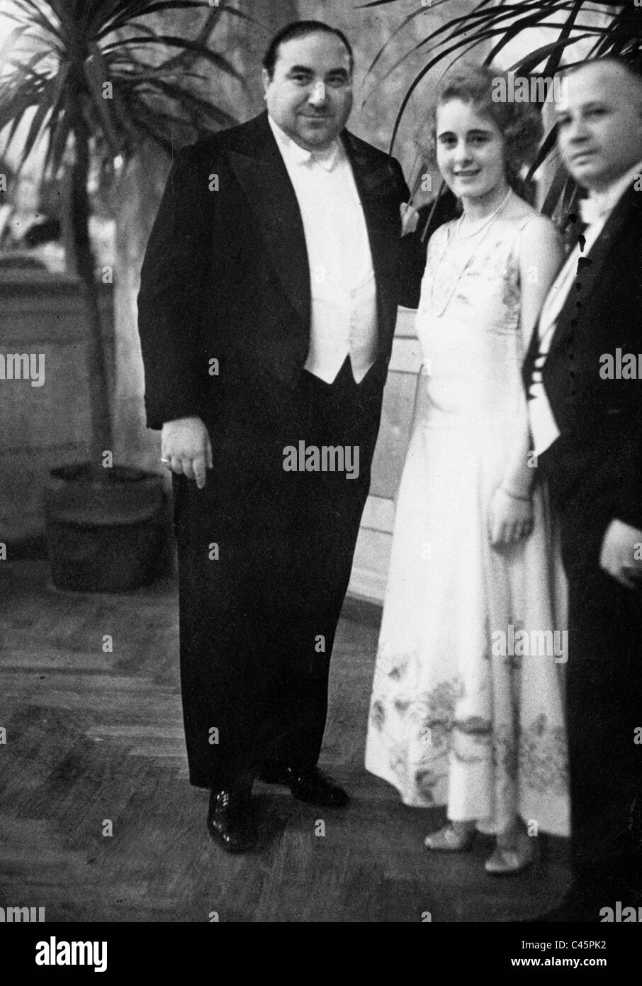Kurt Gerron and Cilly Feinstein at a film ball, 1929 - Stock Image