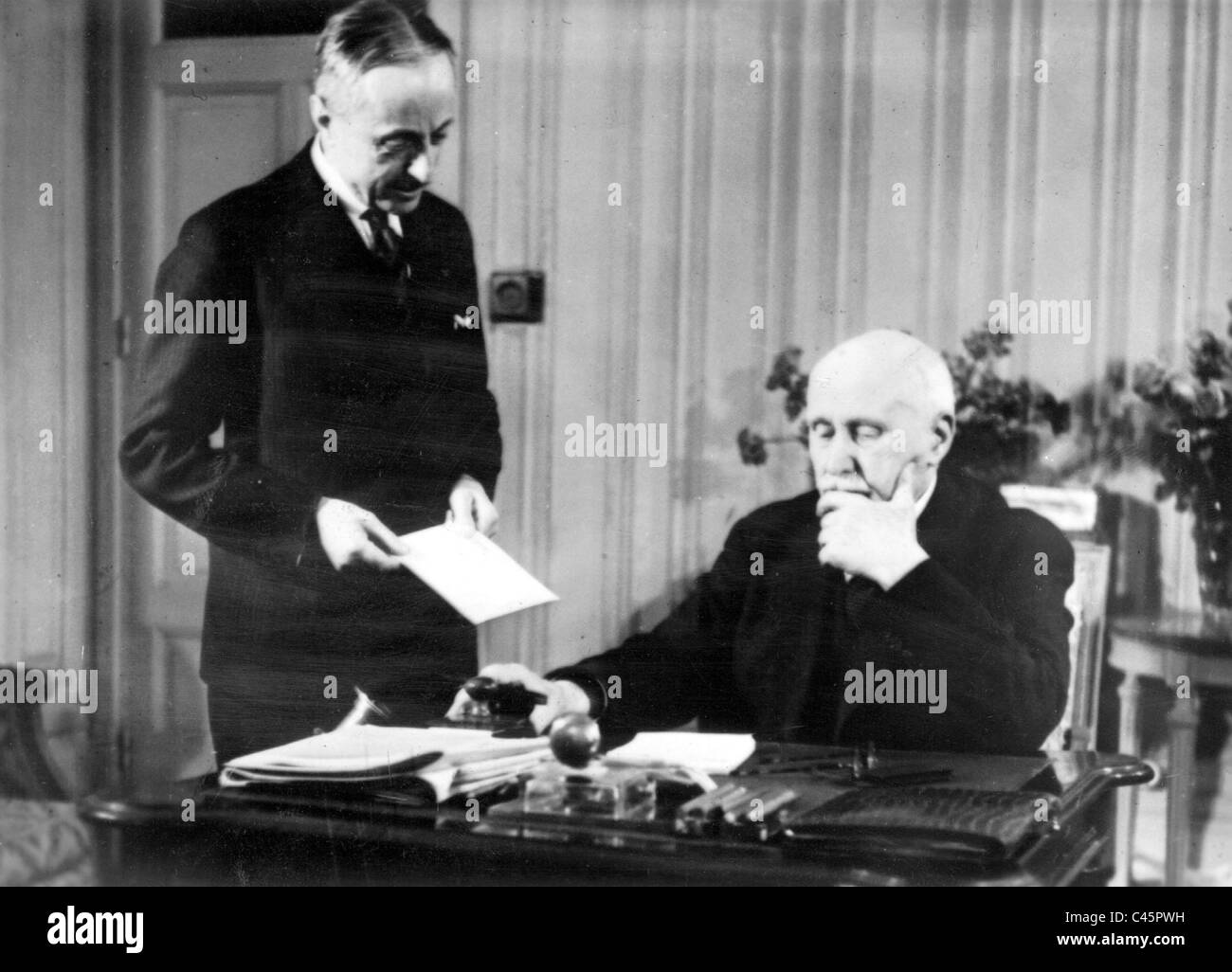 Henri Philippe Petain in his study, 1941 - Stock Image