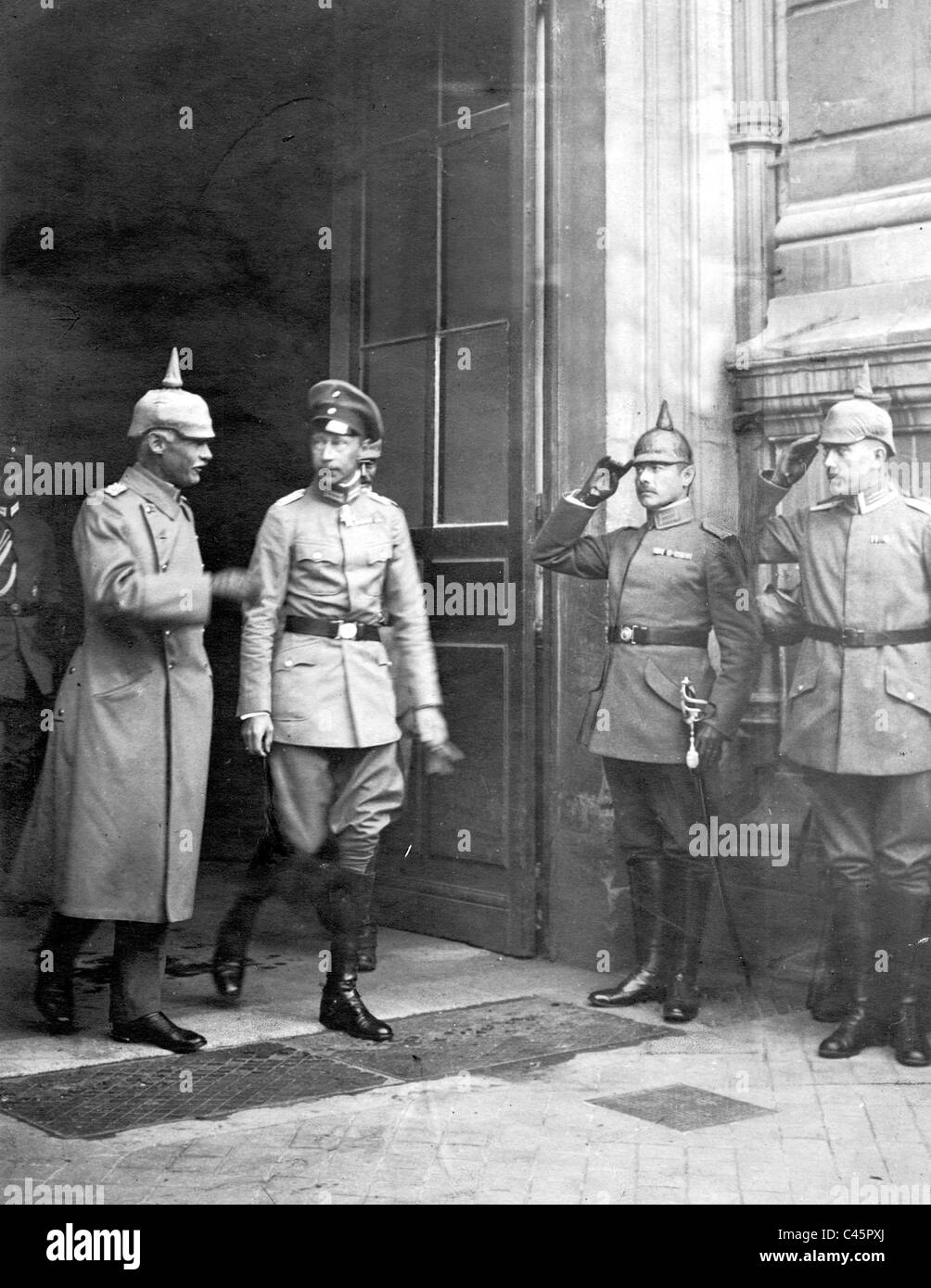 Wilhelm of Prussia and Rupprecht of Bavaria, 1917 Stock Photo