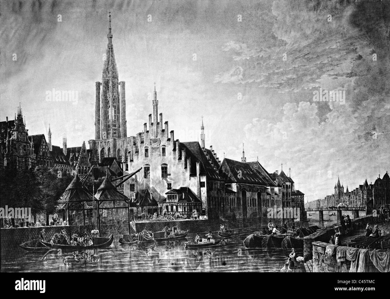 Strasbourg in the 19th century - Stock Image