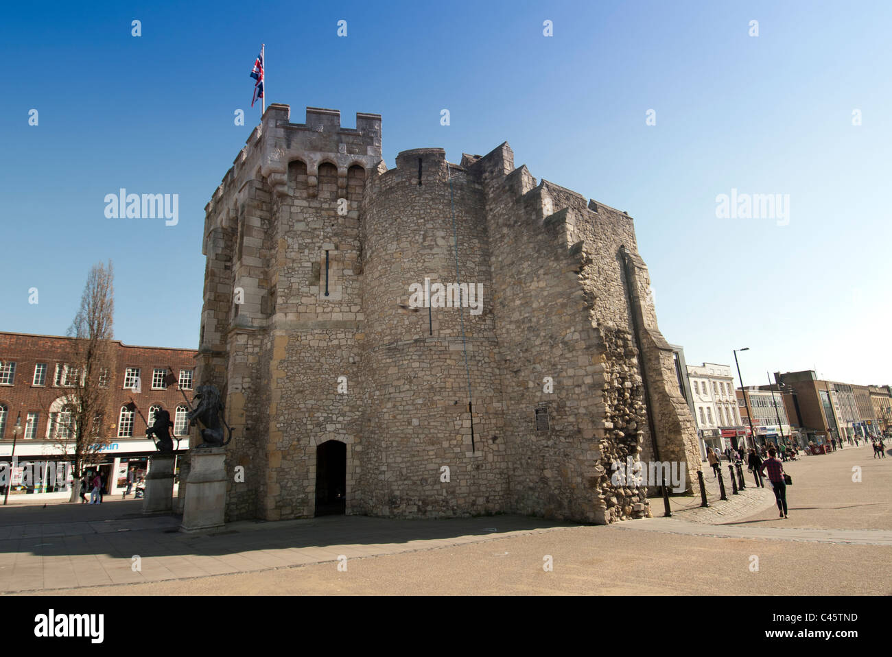 14th century Bargate bell castle Southampton Hampshire UK - Stock Image
