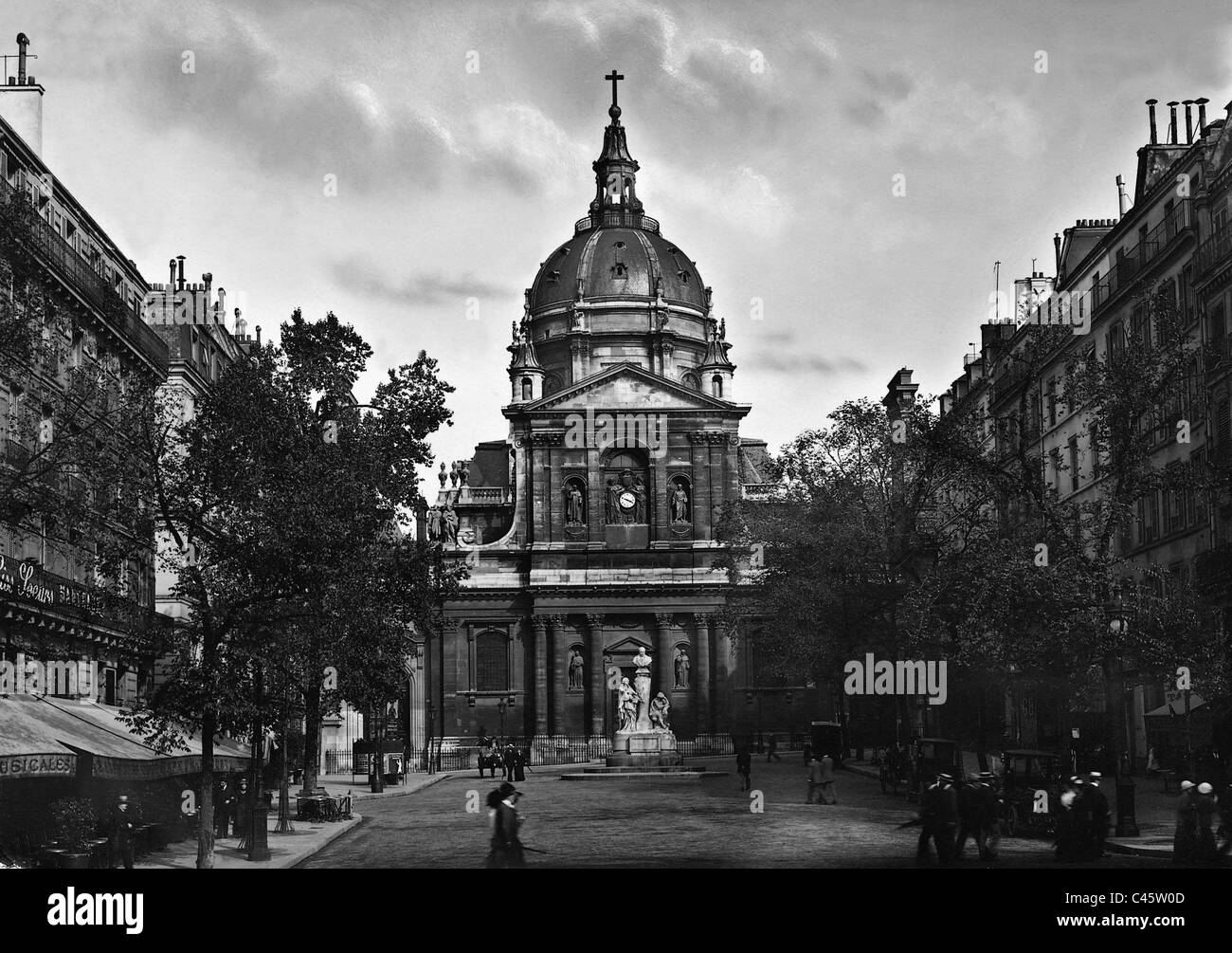 The church of the Sorbonne University in Paris - Stock Image