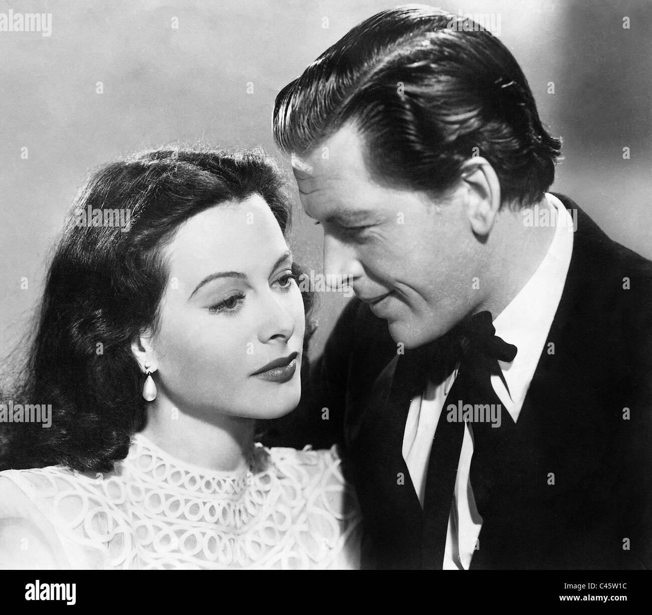 Hedy Lamarr and Frits van Dongen in 'Ziegfeld Girl', 1941 Stock Photo