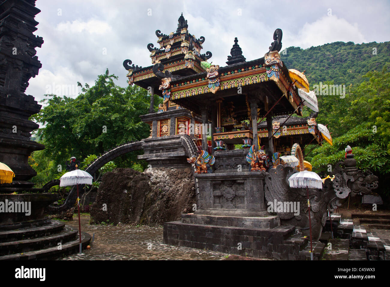 PURA MELANTING is a Hindu temple located in a beautiful agriculture valley near PEMUTERAN - BALI, INDONESIA - Stock Image