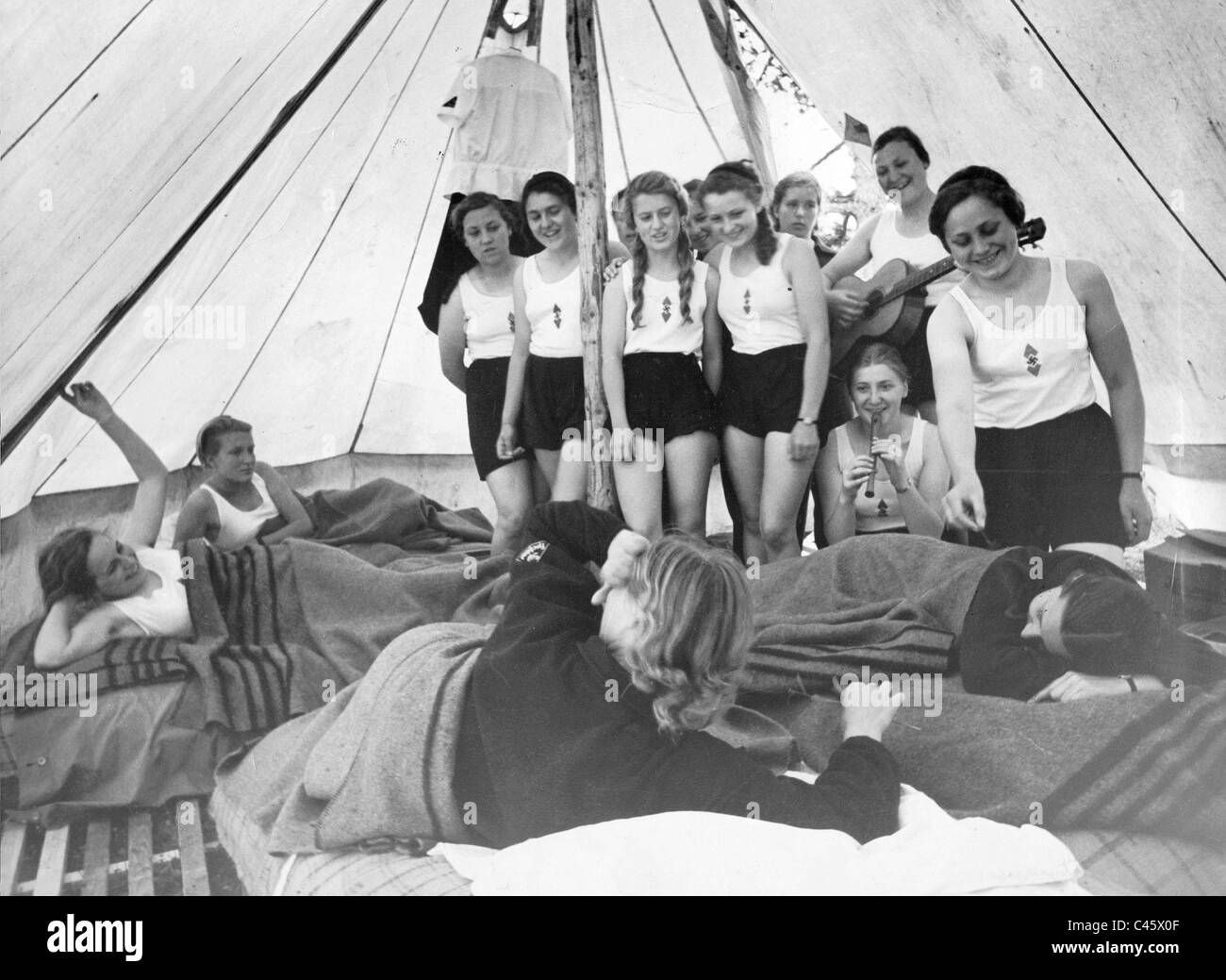 tent camp of bdm 1937 stock photo 37009519 alamy