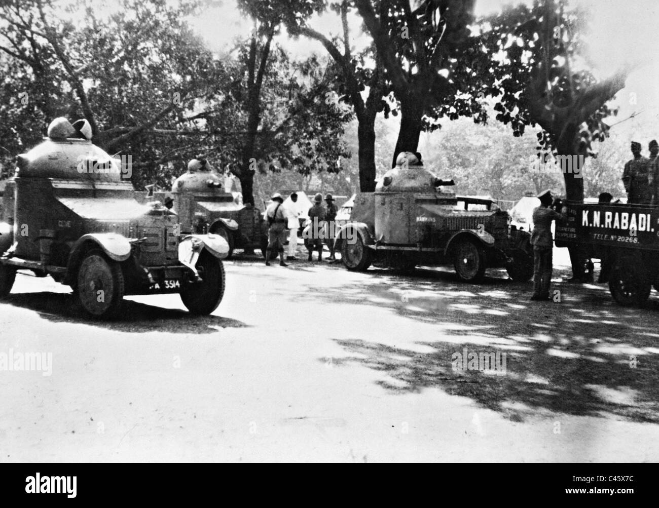 British armored cars in India, 1929 - Stock Image