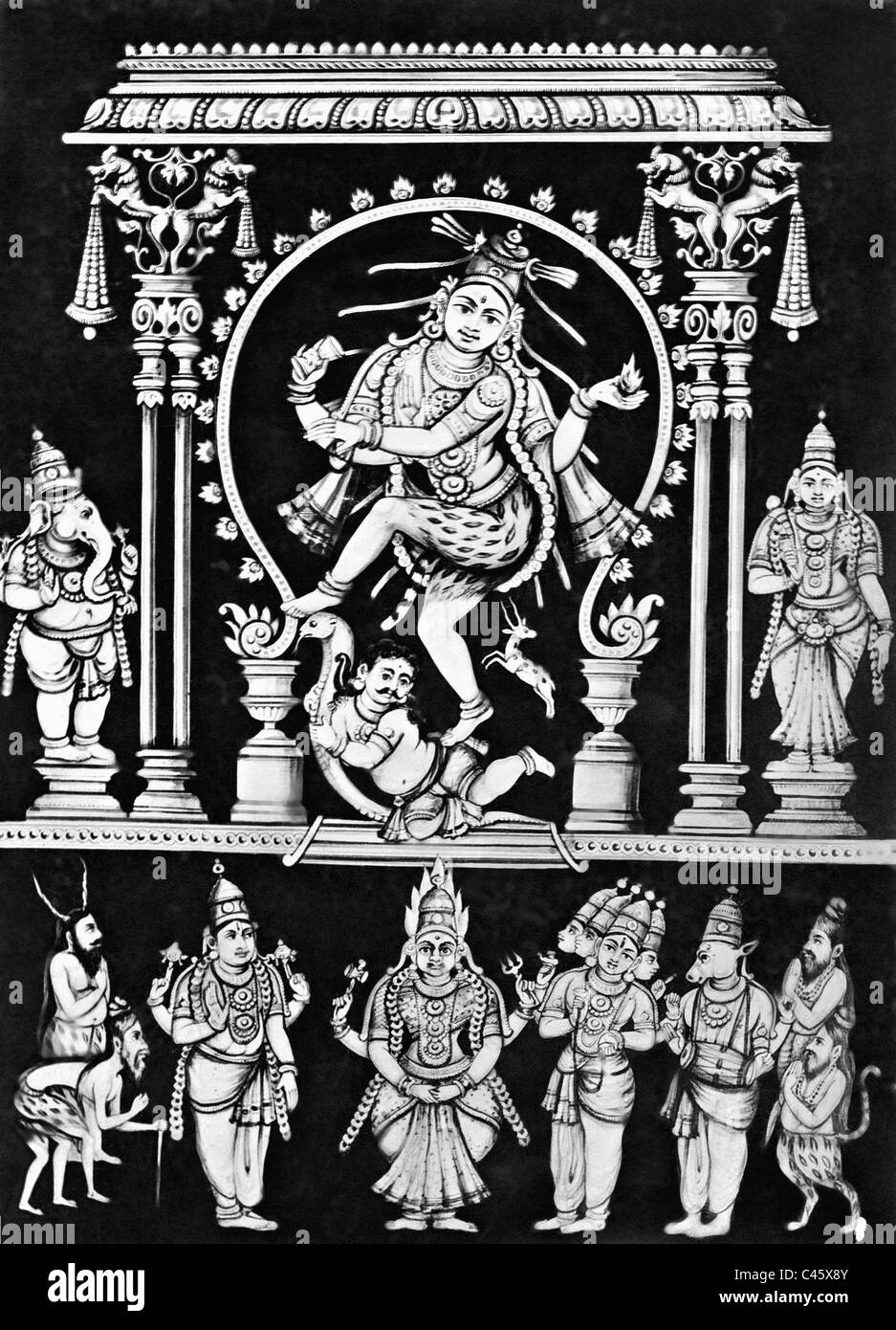 Shiva as the god of the dance, 1910 - Stock Image