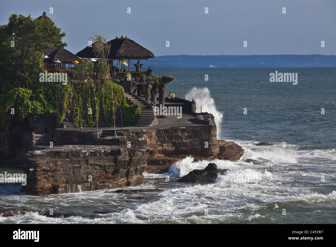 PURA TANAH LOT is one of the most important Hindu Sea Temples - BALI, INDONESIA - Stock Image