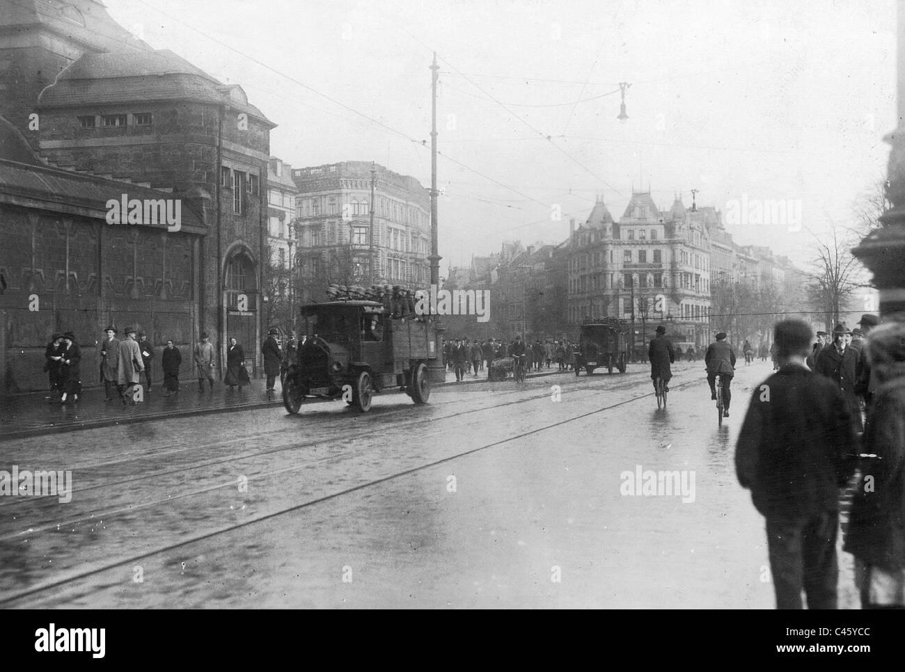Communist uprising in Hamburg, 1923 - Stock Image