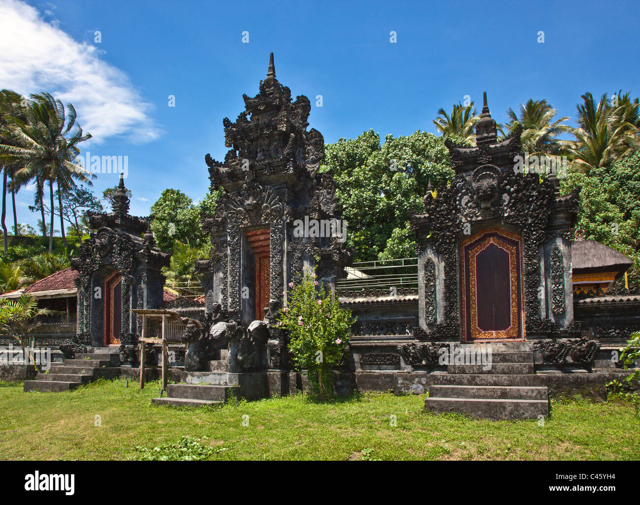 The Hindu temple of PURA PENATURAN RAMBUT SIWI is located along the West Coast - BALI, INDONESIA - Stock Image
