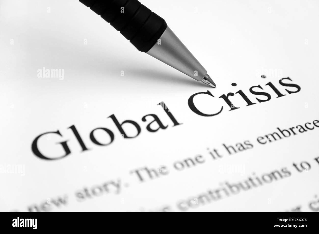 Global financial crisis - Stock Image