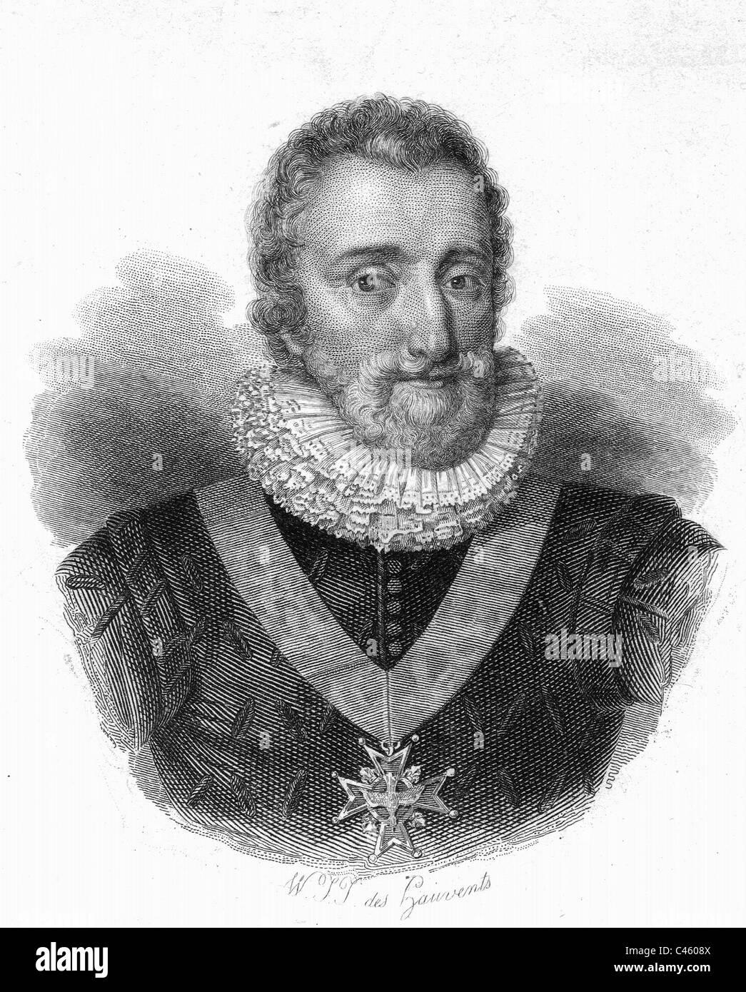 Henry IV, King of France - Stock Image