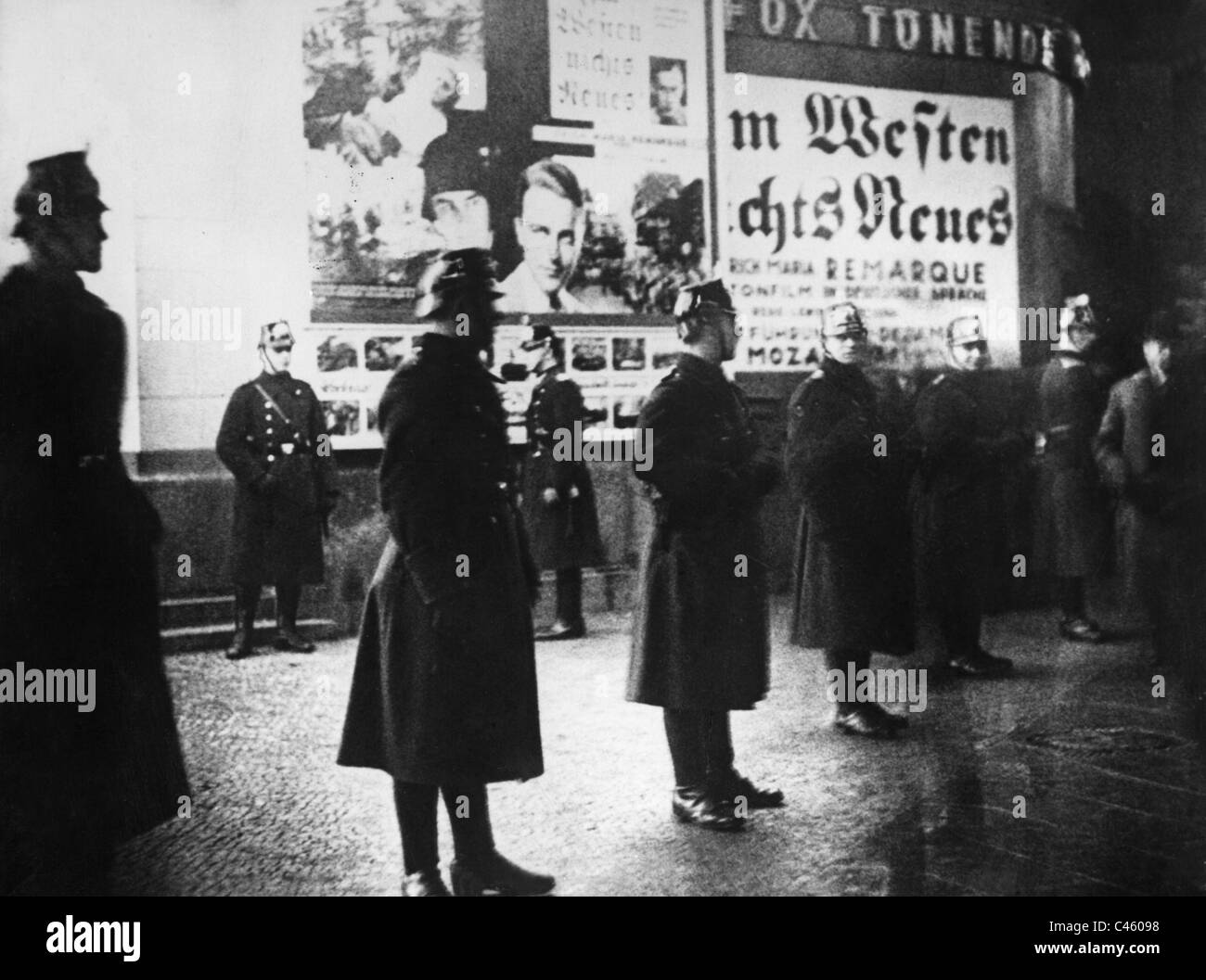 Riots at the premiere of the film 'All Quiet on the Western Front', 1930 - Stock Image