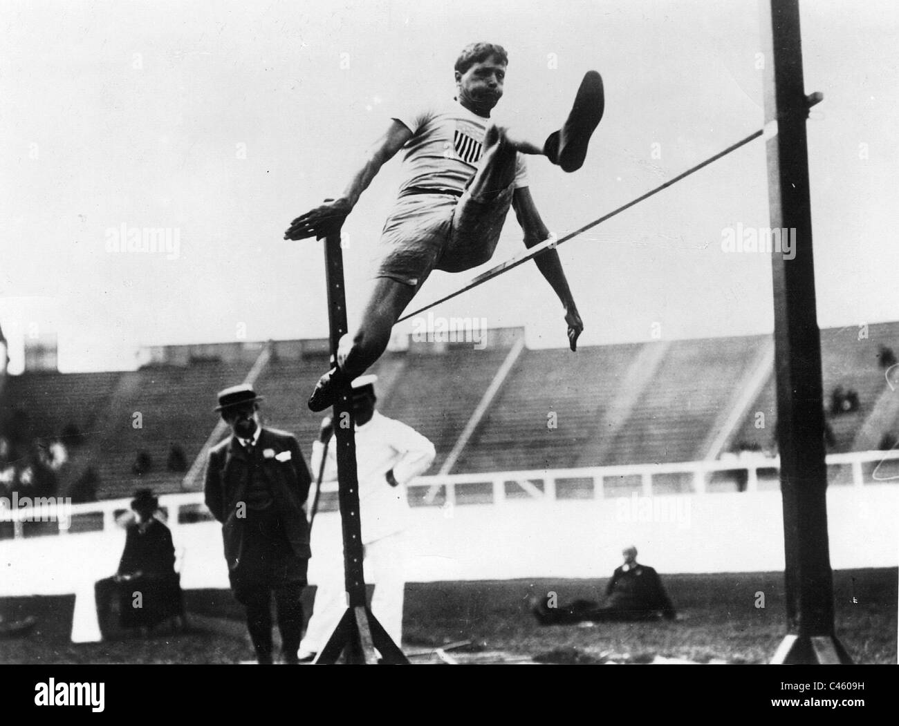 Ray Ewry at the Olympics in 1908 Stock Photo
