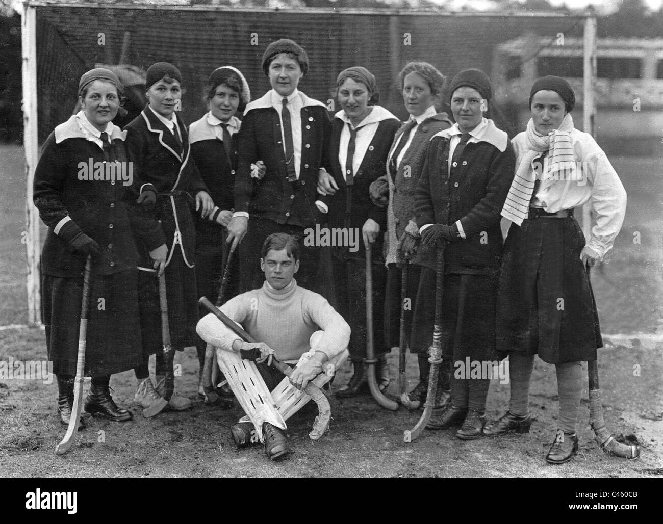 Women's Hockey, 1920 - Stock Image