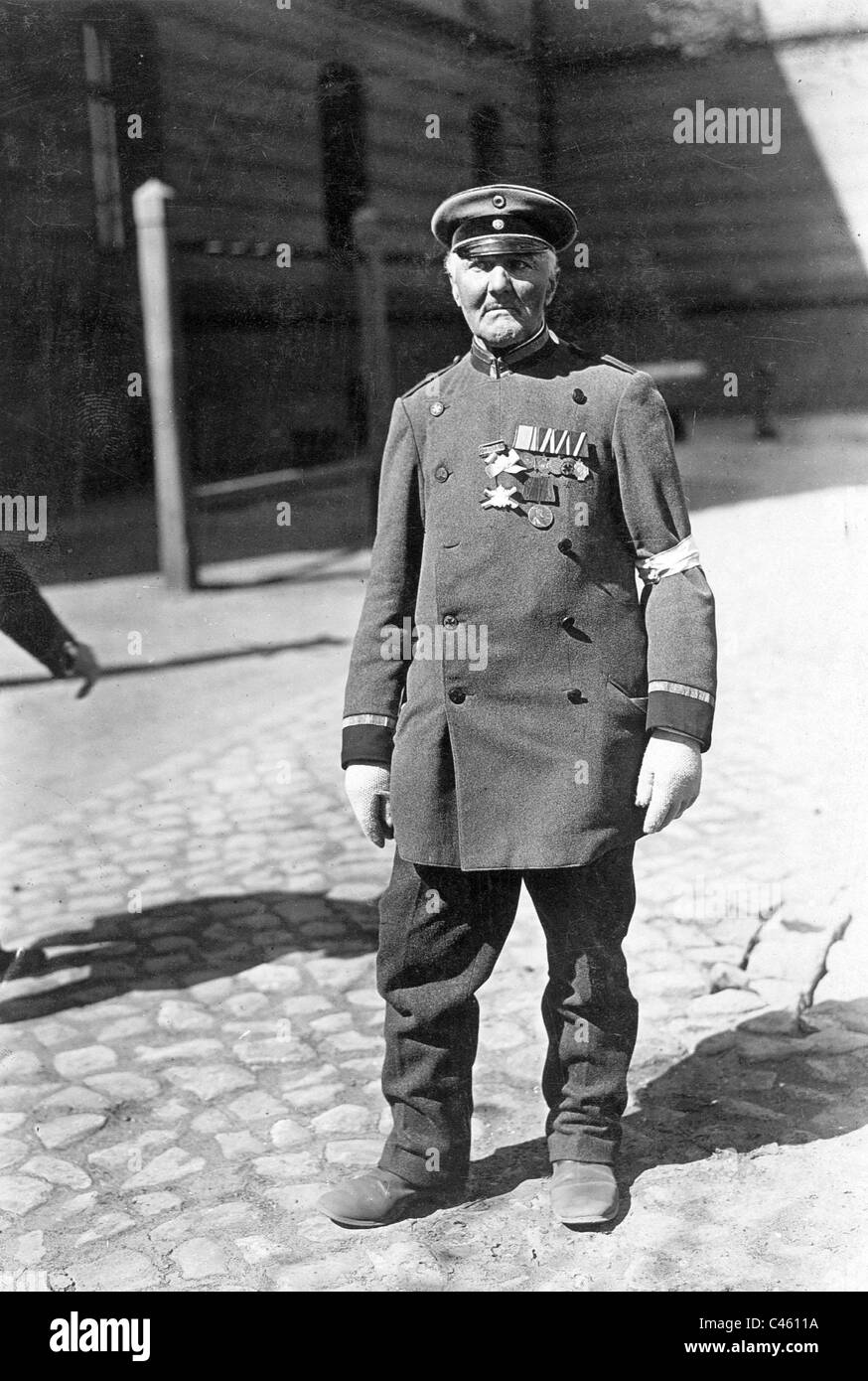 Veteran of the Prussian army in Berlin - Stock Image