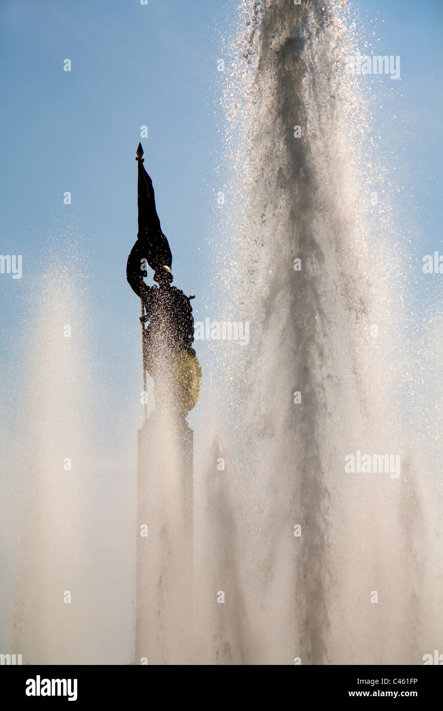 Fountain of Russian army in Vienna - Stock Image