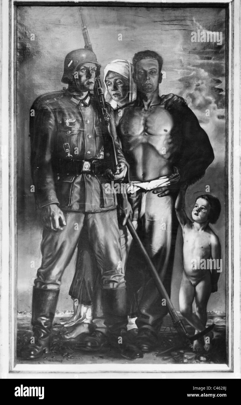 Art of the Third Reich: War Themes, 1933-1945 Stock Photo