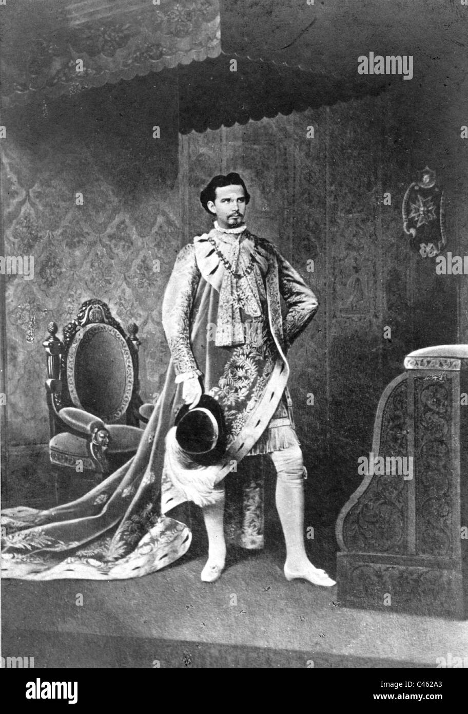 King Ludwig II. of Bavaria - Stock Image